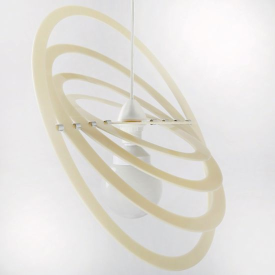 Picture of MODERN PENDANT LIGHT FOR CHILDREN'S ROOM GLOSSY CREAM