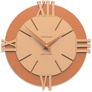 Picture of CALLEA DESIGN MODERN WALL CLOCK LOUIS LIGHT PEACH