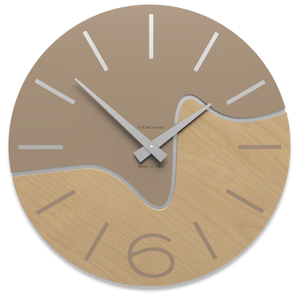 Picture of CALLEA DESIGN MODERN WALL CLOCK OLIVER CAFFELATTE