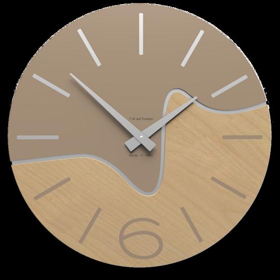 Picture of CALLEA DESIGN MODERN WALL CLOCK OLIVER CAFFELATTE