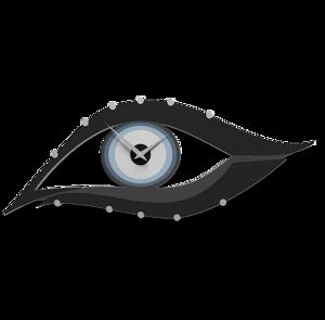 Picture of CALLEA DESIGN POWDER BLUE MODERN WALL CLOCK EYE IN MDF