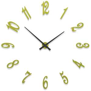 Picture of CALLEADESIGN BRUNELLESCHI CEDAR GREEN WALL CLOCK CM130
