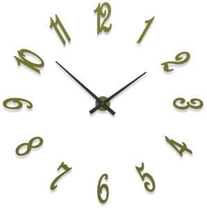 Picture of CALLEADESIGN BRUNELLESCHI OLIVE GREEN WALL CLOCK CM130