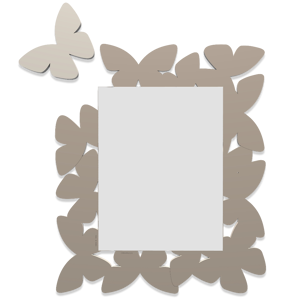 Picture of CALLEA DESIGN BUTTERFLY MIRROR DOVE GREY