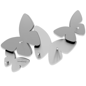Picture of CALLEA DESIGN MAGNETIC KEY HOLDER BUTTERFLIES WHITE
