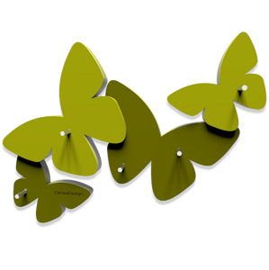 Picture of CALLEA DESIGN MAGNETIC KEY HOLDER BUTTERFLIES OLIVE GREEN
