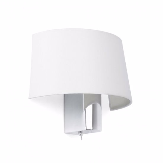 Picture of FARO HOTEL CHROME WALL LAMP WITH WHITE SHADE