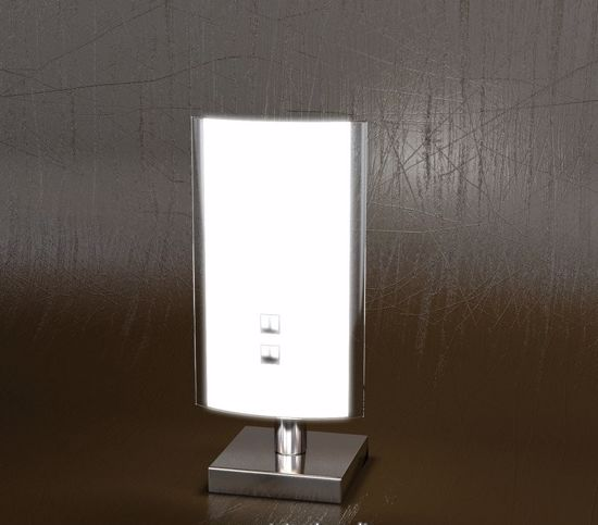 Picture of TOP LIGHT SHADOW  BEDSIDE LAMP GLASS WHITE GLASS