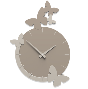 Picture of CALLEA DESIGN MODERN WALL CLOCK BUTTERFLIES FLIGHT DOVE GREY