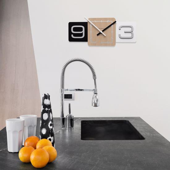 Picture of CALLEA DESIGN MODERN WALL CLOCK SIXTY CAFFELATTE