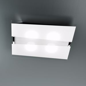 Picture of TOP LIGHT MAD CEILING LAMP IN WHITE GLASS SILKSCREENED 50CM 3 LIGHTS
