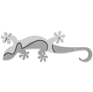 Picture of CALLEA DESIGN WALL KEY RACK GECKO WHITE