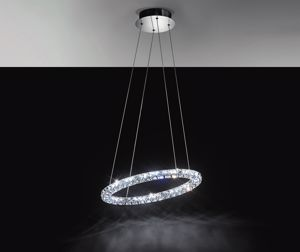 Picture of EGLO TONERIA SUSPENSION LED CRYSTAL RING 24W 60CM