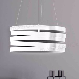 Picture of MARCHETTI BAND SUSPENSION WHITE IN METAL 50CM 3 LIGHTS E27