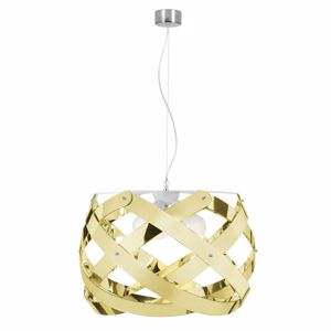 Picture of EMPORIUM PENDANT LAMP BIG 67CM 3 LIGHTS NUCLEA GOLD