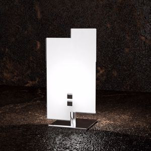 Picture of TOP LIGHT TETRIS COLOR TABLE LAMP IN WHITE AND CHROME GLASS