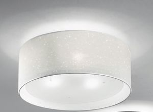 Picture of ANTEA LUCE GLITTER CEILING LAMP Ø55 WHITE TEXTILE