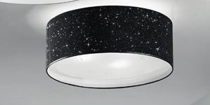 Picture of ANTEA LUCE GLITTER CEILING LAMP Ø55 BLACK TEXTILE