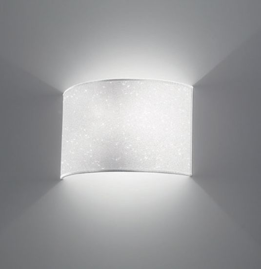 Picture of ANTEA LUCE GLITTER WHITE TEXTILE WALL LIGHT