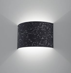 Picture of ANTEA LUCE GLITTER BLACK TEXTILE WALL LAMP