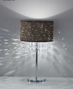 Picture of ANTEA LUCE GLITTER DOVE GREY BEDSIDE LIGHT WITH CRYSTALS