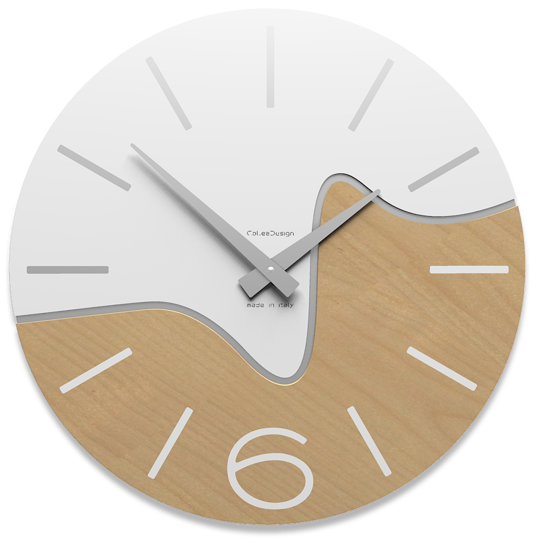 Picture of CALLEA DESIGN MODERN WALL CLOCK OLIVER WHITE