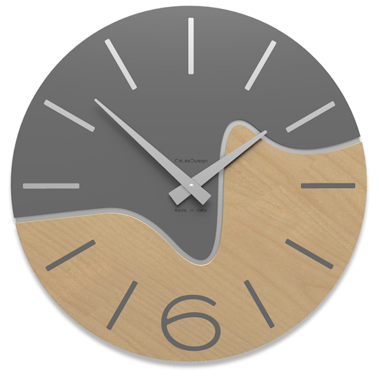 Picture of CALLEA DESIGN MODERN WALL CLOCK OLIVER QUARTZ GREY