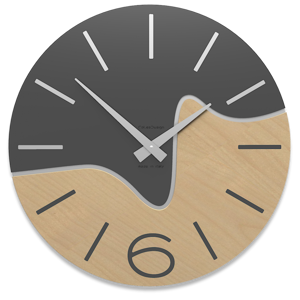 Picture of CALLEA DESIGN MODERN WALL CLOCK OLIVER ANTHRACITE