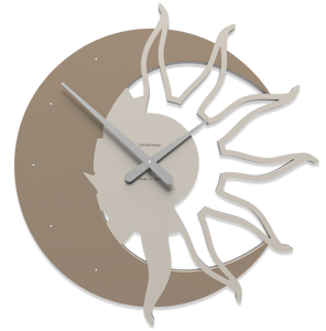 Picture of CALLEA DESIGN MODERN WALL CLOCK SUN & MOON CAFFELATTE