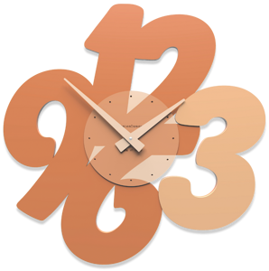 Picture of CALLEA DESIGN TRANSPARENCIES MODERN WALL CLOCK TERRACOTTA