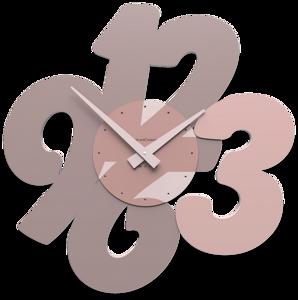 Picture of CALLEA DESIGN TRANSPARENCIES MODERN WALL CLOCK PLUM GREY