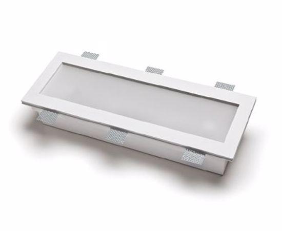 Belfiore 9010 Gypsum Rectangular Recessed Ceiling Lamp Led 21w