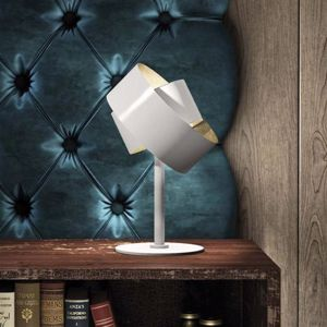 Picture of MARCHETTI PURA BEDSIDE LAMP WHITE AND GOLD LEAF