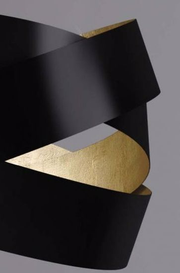 Picture of MARCHETTI PURA BEDSIDE LAMP BLACK AND GOLD LEAF