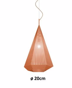 Picture of VINTAGE PENDANT LIGHT Ø20CM COPPER GIBAS PRIAMO