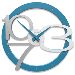 Picture of CALLEA DESIGN MODERN WALL CLOCK SCARLETT LIGHT BLUE
