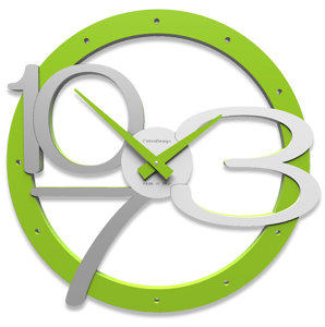 Picture of SCARLETT WALL CLOCK WITH MODERN DESIGN GREEN APPLE