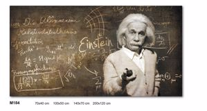Picture of WALL ARTWORK ALBERT EINSTEIN PRINT ON CANVAS 140X70