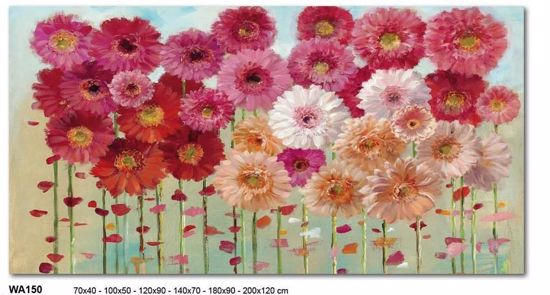 Picture of MANIE WALL ARTWORK FLORAL PRINT ON CANVAS 140X70