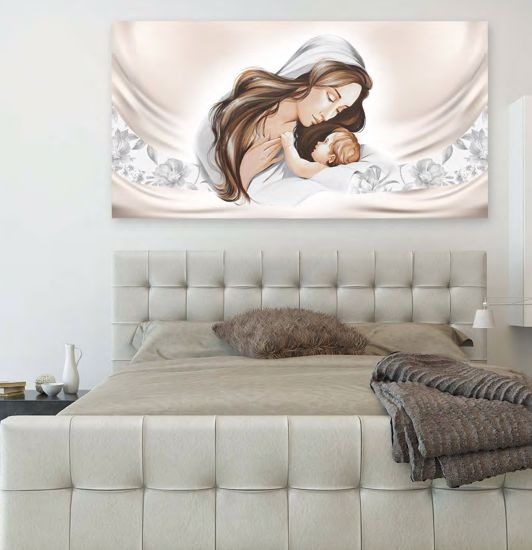 Picture of CONTEMPORARY ART ABOVE BED 70X40 ECO-LEATHER