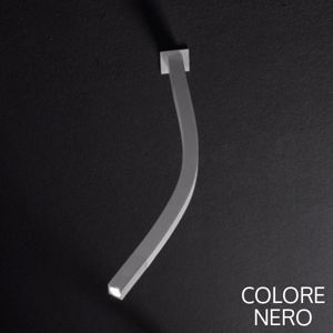 Picture of LINEA LIGHT SNAKE LED ADJUSTABLE BEDSIDE WALL LAMP BLACK
