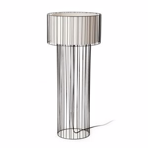 Picture of FARO LINDA FLOOR LAMP IN BLACK METAL ESSENTIAL DESIGN