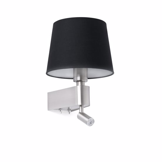 Picture of ARO ROOM WALL BEDSIDE LAMP WITH DOUBLE LED AND BLACK SHADE