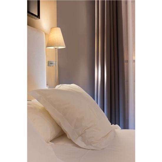 Picture of FARO SABANA WALL BEDSIDE LAMP WITH SHADE IN BEIGE FABRIC