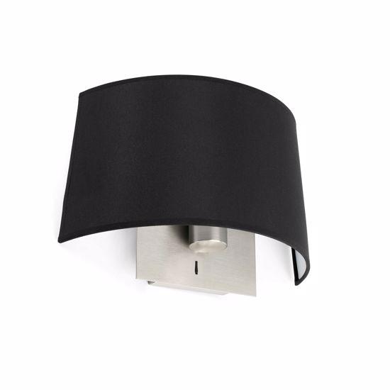 Picture of FARO VOLTA WALL LAMP IN BLACK FABRIC