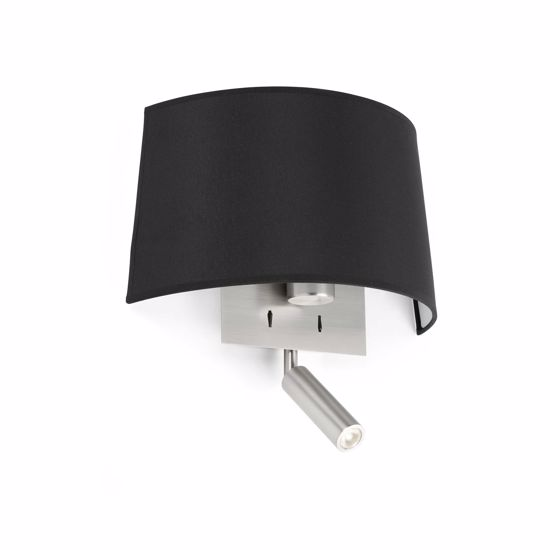 Picture of FARO VOLTA WALL LAMP IN BLACK FABRIC DOUBLE LIGHT