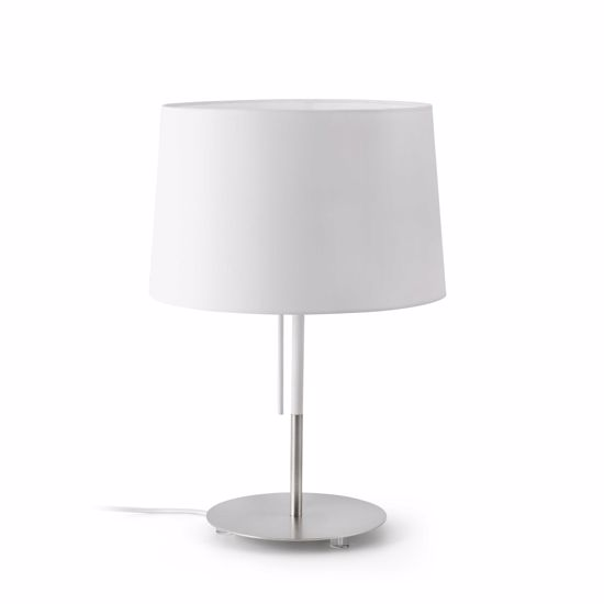 Picture of FARO VOLTA TABLE LAMP WITH WHITE SHADE