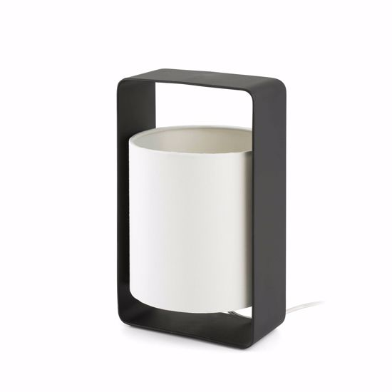Picture of FARO LULA BEDSIDE LAMP BLACK AND WHITE MODERN DESIGN