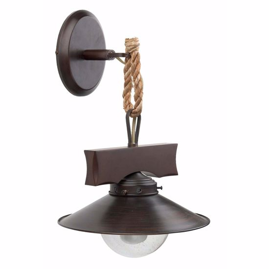 Picture of FARO NUDOS WALL LAMP IN DARK BROWN METAL RUSTIC