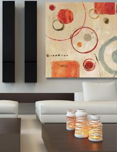 Picture of MANIE WALL ARTWORK ABSTRACT CANVAS PRINT 70X70